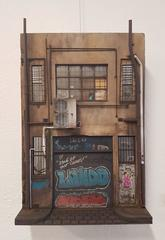 Cecile Walker Cycles - miniature urban building sculpture- street art graffiti