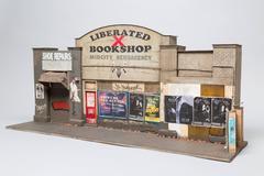 Liberated Bookshop - miniature urban street building sculpture