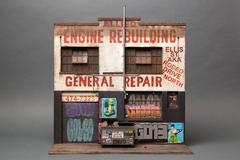 Allied Engine Repair - miniature urban building sculpture - street art graffiti
