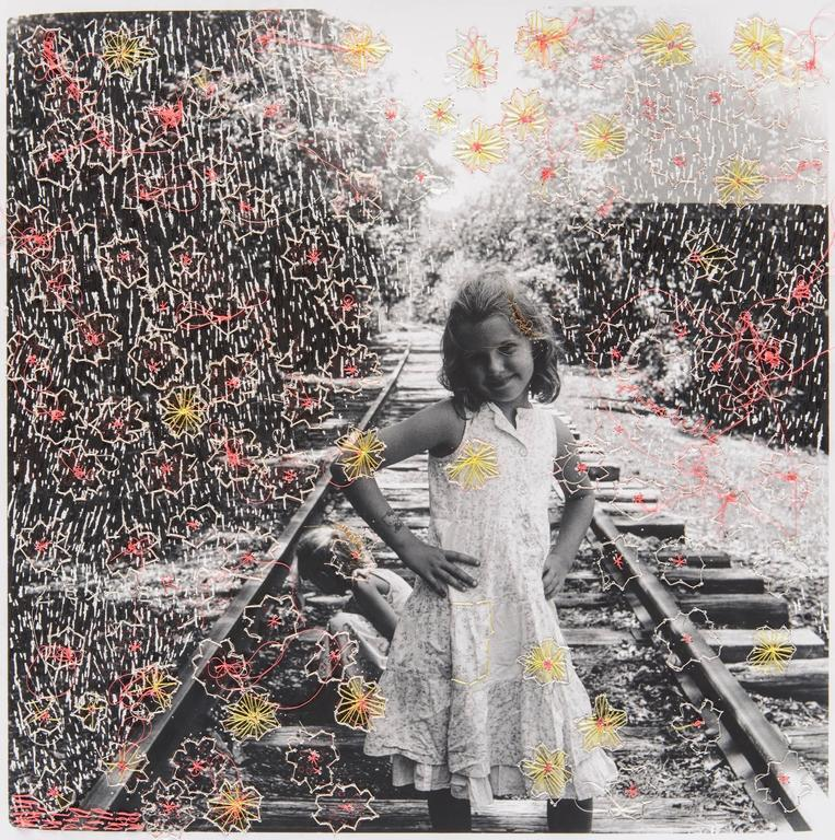 Melissa Zexter Train Tracks Embroidered Contemporary Photography