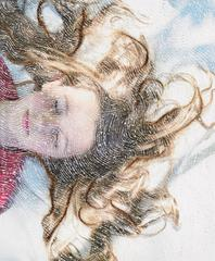 Mirabelle- contemporary embroidered photography portrait of a child