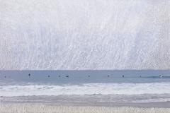 Beach - contemporary embroidered landscape beach and sea photography