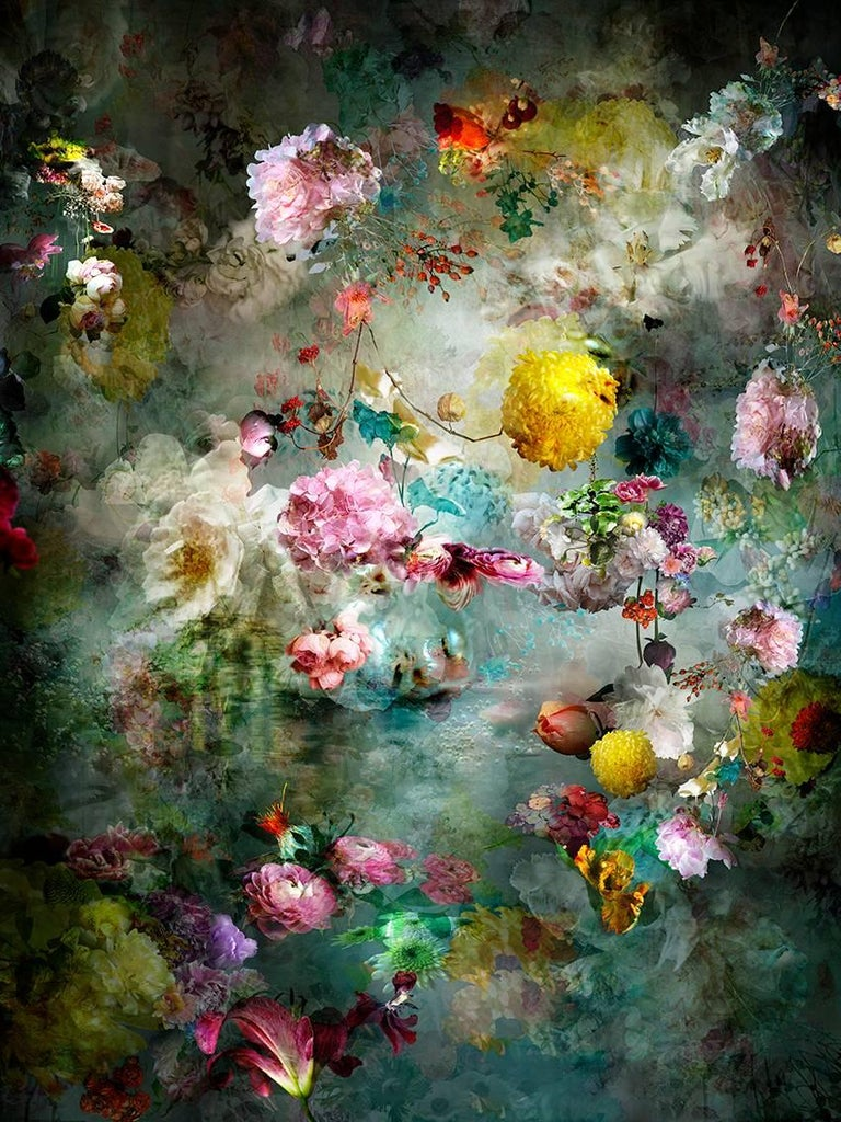 Isabelle Menin Color Photograph - Song for Dead Heroes #11 pastel color abstract floral still life photo