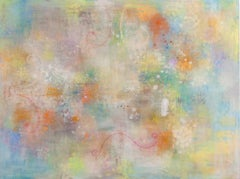 Spring Bloom - abstract nature inspired contemporary oil painting