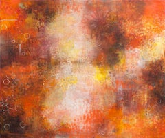 Reflections 3 - abstract nature inspired contemporary oil painting