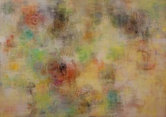 Whispering Wind #3- abstract nature inspired contemporary oil painting