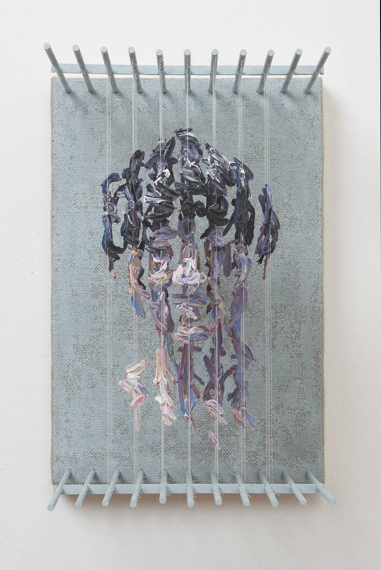 HOR - figurative portrait sculpture in 3D with suspended paint strokes