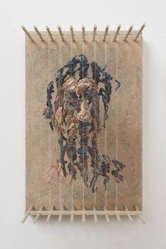Chris Dorosz - SRO- 3D figurative portrait sculpture with suspended paint strokes