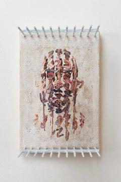 Chris Dorosz - RSH - figurative 3D portrait with suspended paint strokes
