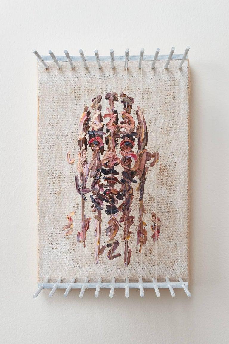 RSH - figurative 3D portrait with suspended paint strokes
