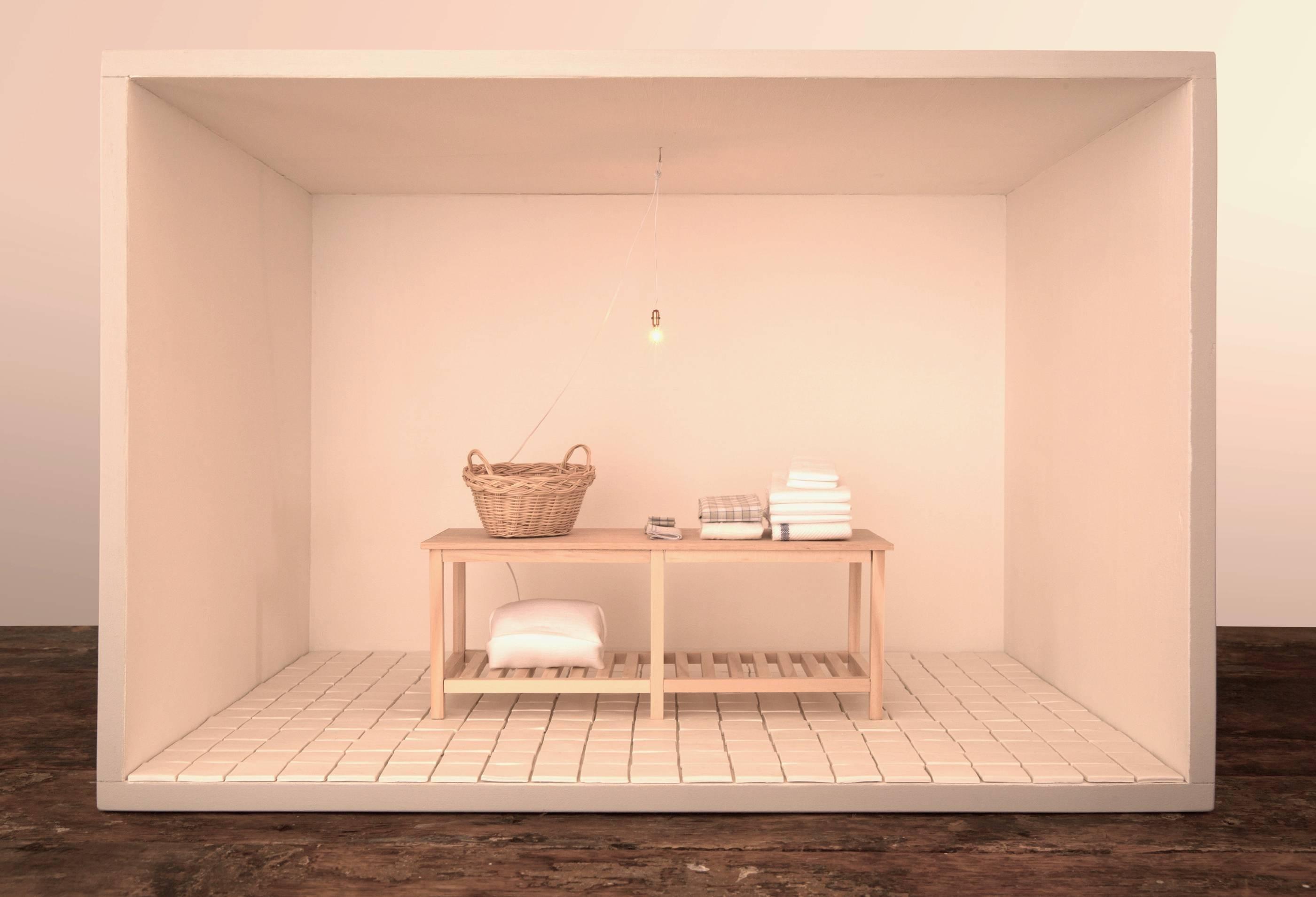 Refuge #4 - contemporary color photograph of interior