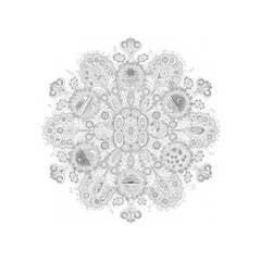 Space Party - abstract mandala pencil drawing with nature landscape