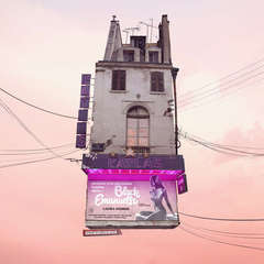 Cinema - Digital Pale Pastel Color Contemporary Photograph of Parisian House