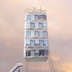 Le Voyeur - Digital Pale Pastel Color Photograph of a Parisian House