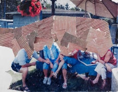 Poor Babies - Suburban Figurative Photo Transfer Collage on Mylar