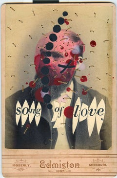 Song of Love- Contemporary street art old photo using mixed media and collage