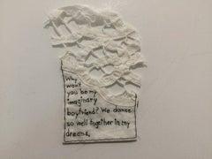 Imaginary Boyfriend- written embroidery on fabric