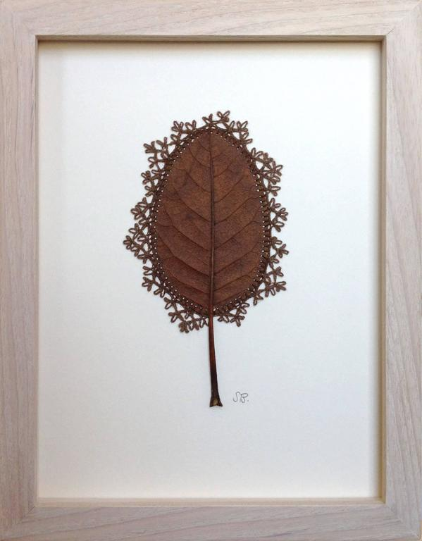 Susanna bauer adornment ix embroidery magnolia leaf