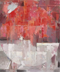 Blood Moon- large red abstract contemporary painting