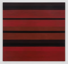 Dark red 2 - large dark red and black abstract contemporary oil panting