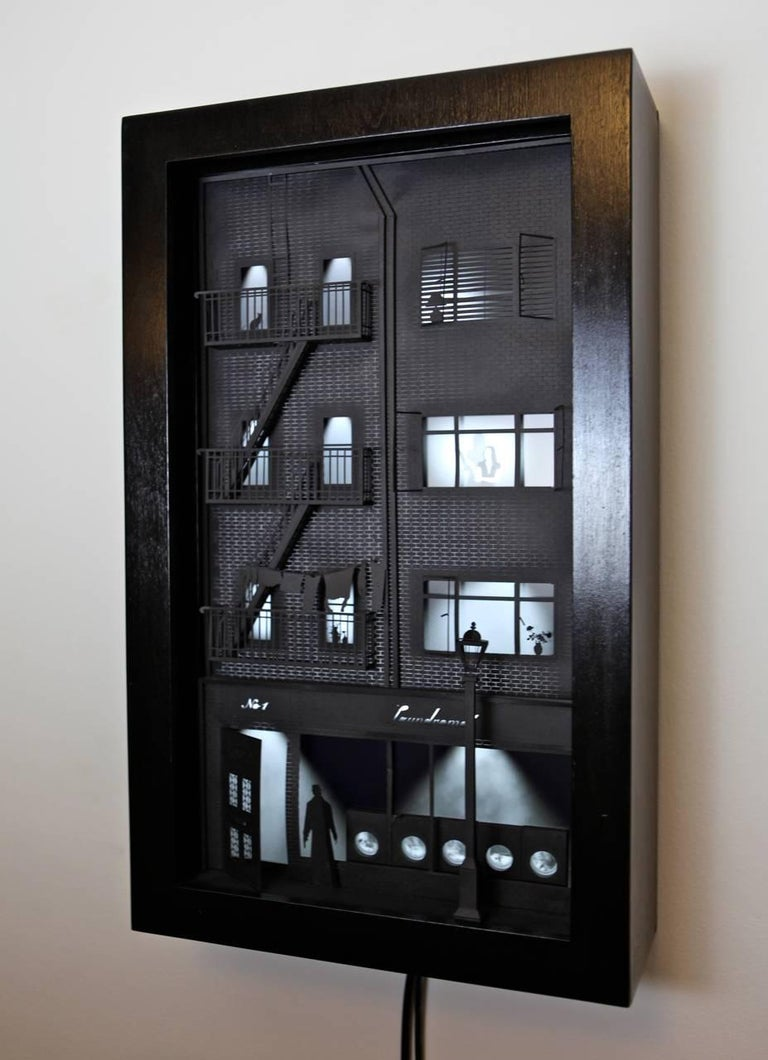 Landromat-  video wall sculpture inspired by film noir