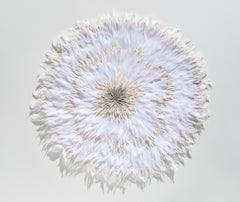 Cultiveren IV - Abstract floral circle composition beige white nature inspired