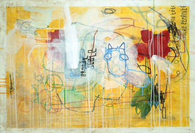 Erotic Scale - Horizontal Yellow Street Art Contemporary Painting 1