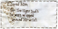 Tiger Tooth- narrative embroidery on fabric