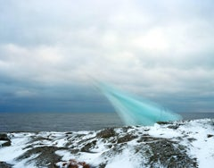 String, Cloth, and Kite 04 - large sky blue snow scandinavian landscape photo