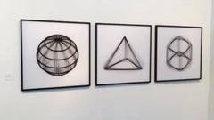 Geometric Rotation #1 abstract geometric black white kinetic lenticular prints