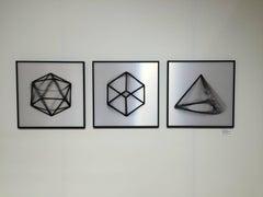 Geometric Rotation #2- abstract geometric kinetic black white lenticular prints