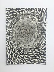 Swirling Vortex - Abstract Geometrical Pencil Drawing on Paper
