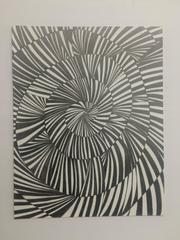Variation I - Abstract Geometrical Pencil Drawing On Paper