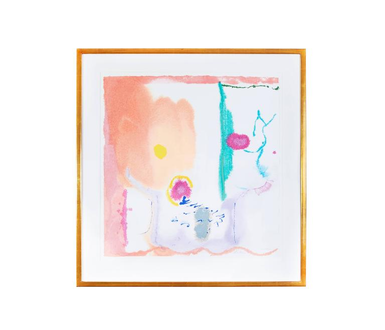Helen Frankenthaler Abstract Print - Beginnings