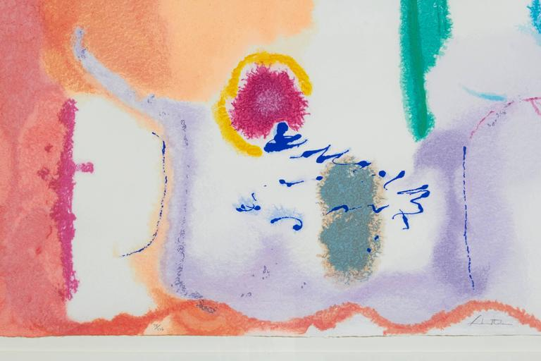 Beginnings - Beige Abstract Print by Helen Frankenthaler
