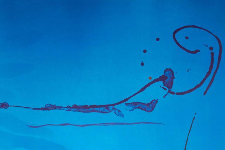 Blue Current - Print by Helen Frankenthaler