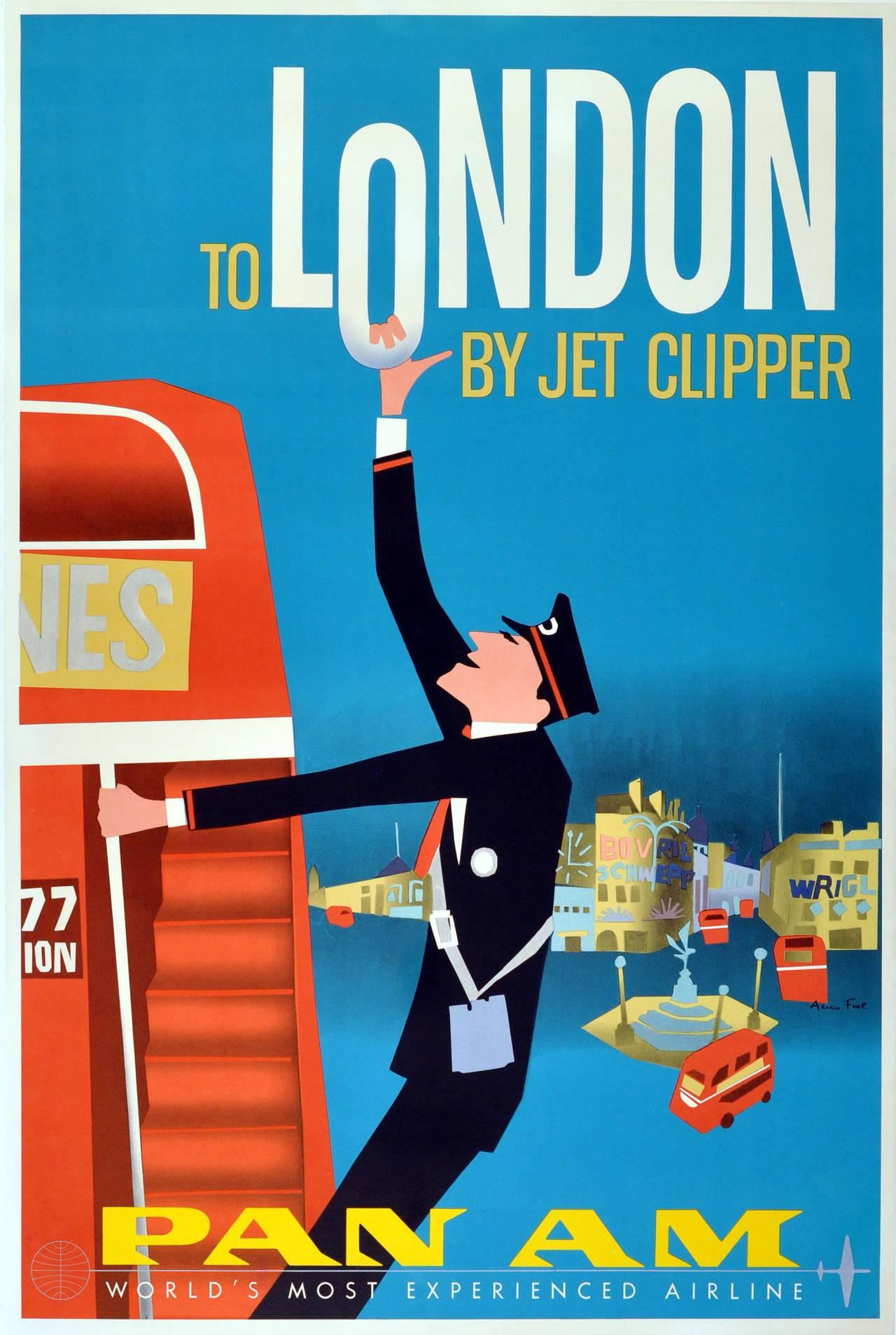 Aaron Fine - Original Vintage Travel Advertising Poster ...