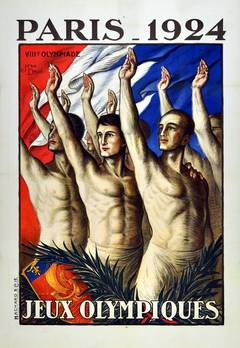 VIII Olympiad: Original Vintage Sport Poster For The 1924 Olympic Games In Paris