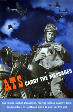 Original Vintage World War Two ATS Recruitment Poster - ATS Carry The Messages