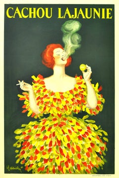 Cachou Lajaunie - Original Vintage 1920 Advertising Poster By Leonetto Cappiello