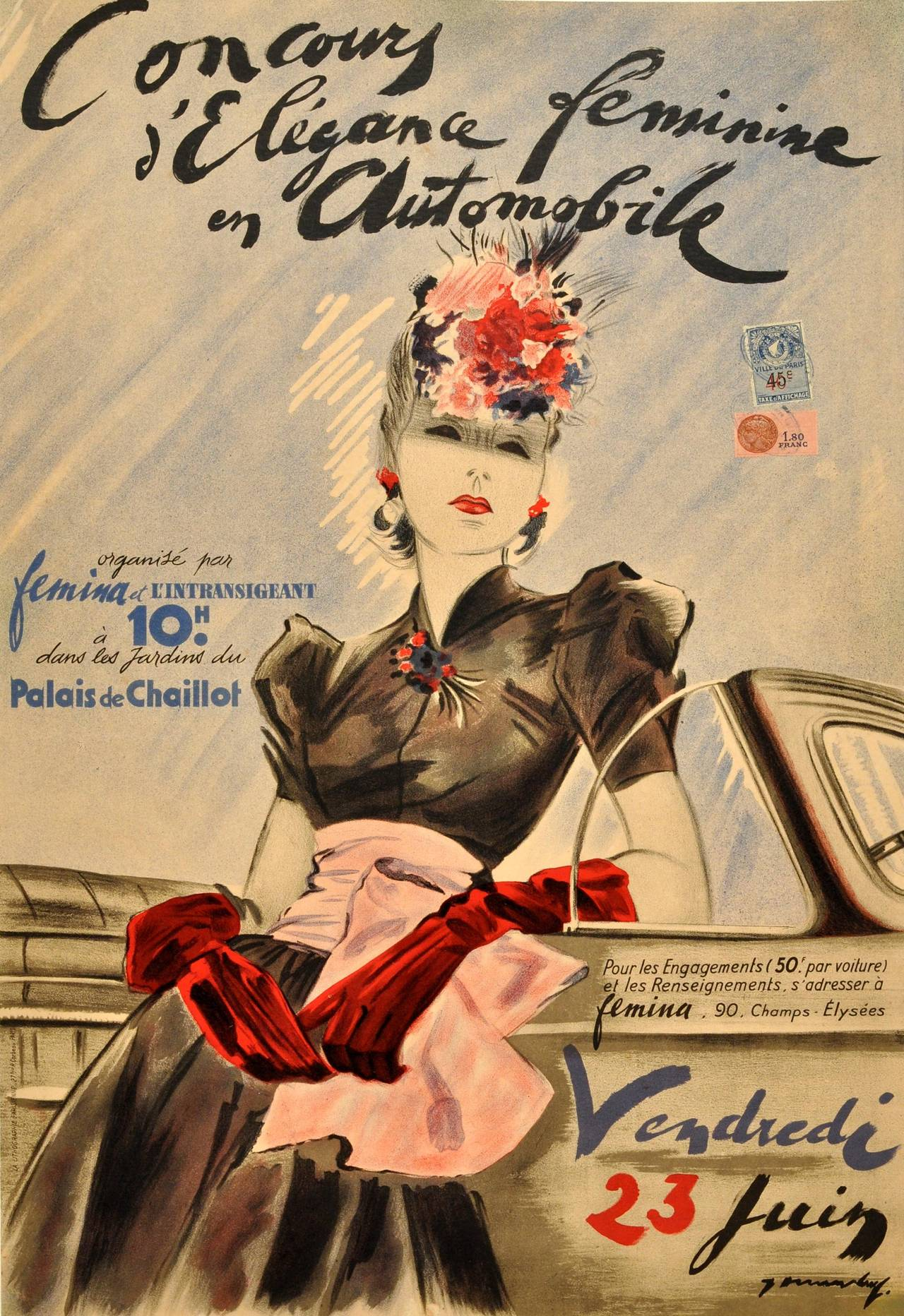 Unknown - Original Vintage Advertising Poster: Concours d ...