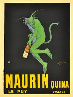 Original Poster Advertising Maurin Quina; Iconic Design By Leonetto Cappiello