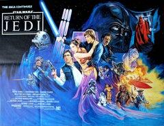 Original Vintage 1983 Movie Poster - Star Wars Episode VI The Return Of The Jedi