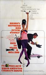 Original 1966 Movie Poster For How To Steal A Million Starring Audrey Hepburn