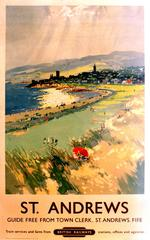 Original Vintage British Railways Poster By Frank H Mason - St. Andrews Scotland