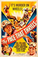 Original Vintage Movie Poster For A Motorcycle Racing Film The Pace That Thrills