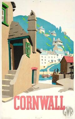 Original 1936 Great Western Railway Poster By Frank Newbould For Cornwall - GWR