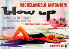 Original Vintage Movie Poster For The Film Blow Up Starring Vanessa Redgrave