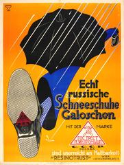 Original 1920s Austrian Advertising Poster For USSR Resinotrust Rubber Overshoes
