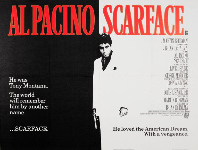 Unknown - Original Vintage Movie Poster For The Cult Film Starring Al  Pacino - Scarface For Sale at 1stDibs